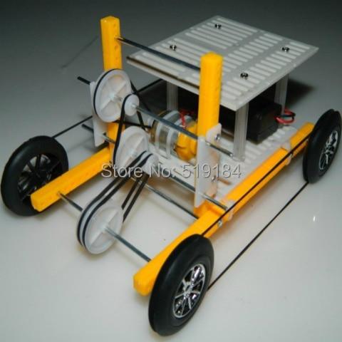 DIY Power-driven toy car motor-driven students car assembled  hand model brain 00173 1 24 00750 assembled model car mclaren f1 gtr 1998 le