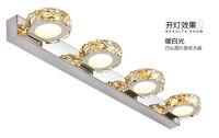Современный роскошный кристалл LED 12 Вт/4 глав Водонепроницаемый IP65 Настенные светильники внутреннего освещения зеркало в ванной свет AC90 265V
