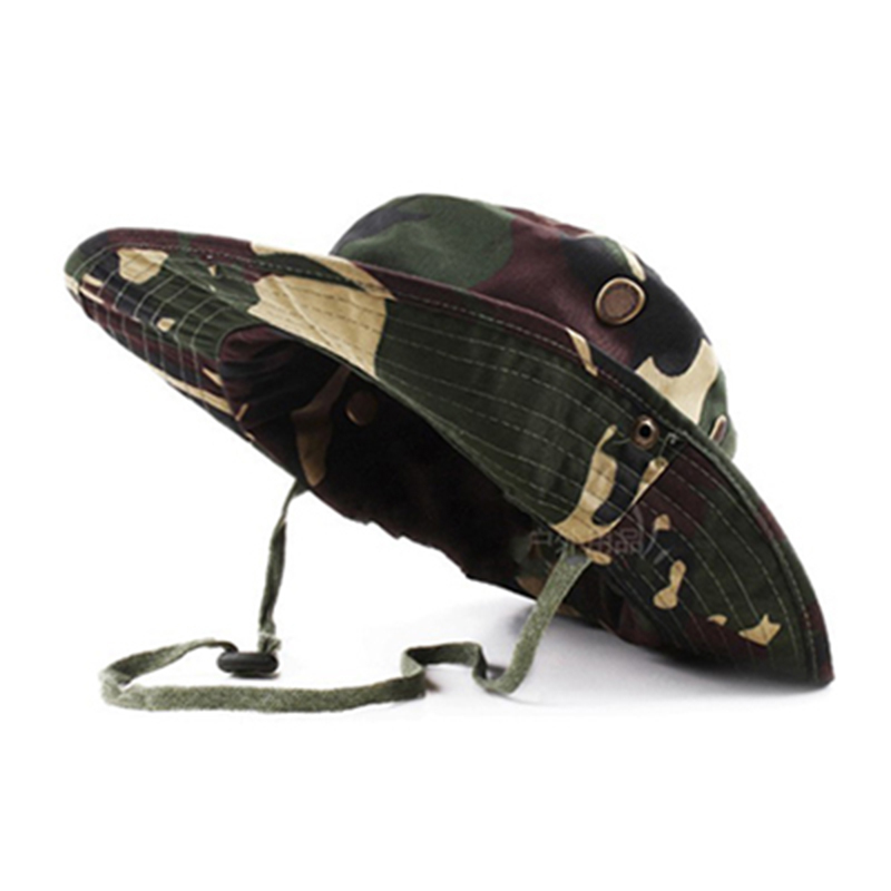 4e170e5d628 Tactical Airsoft Sniper Camouflage Boonie Hats Nepalese Cap Militares Army  Mens American Military Style Accessories A-tacs FG