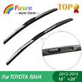 "1 set Wiper blades For TOYOTA RAV4 (2012-2015), 16""+26"",car wiper,3 Section Rubber, windscreen, Car accessory"