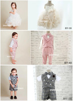 Dvotinst Baby Boys Girls Photography Props Folra Formal Dresses Outfits Gentleman Set for Photo Shooting Fotografia Accessories