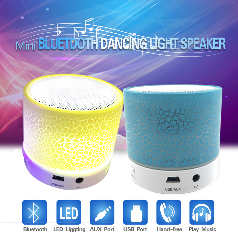Portable Wireless Small LED Bluetooth Speakers Mini Music Audio TF USB FM Light Stereo Sound Speaker For Phone Xiaomi with Mic xanes a6s