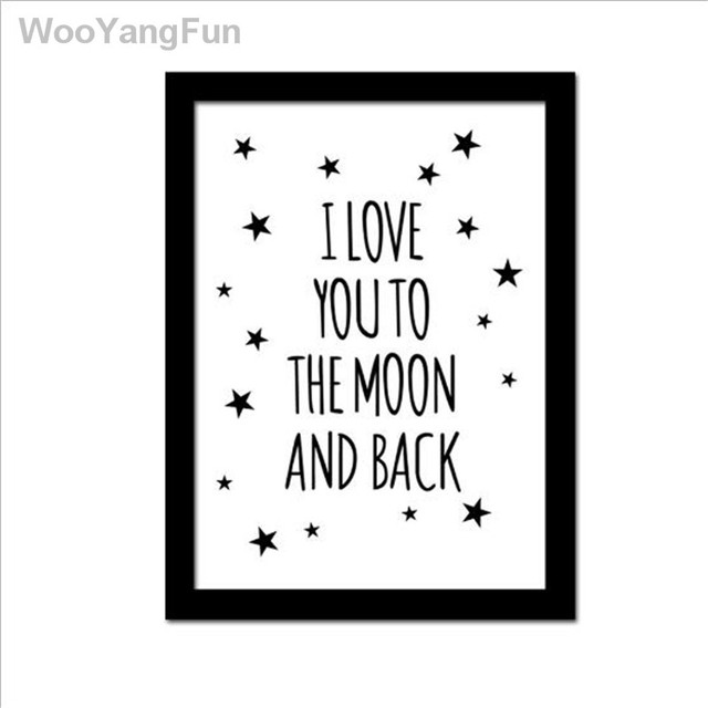 modern i love you quote no frame canvas art print poster painting