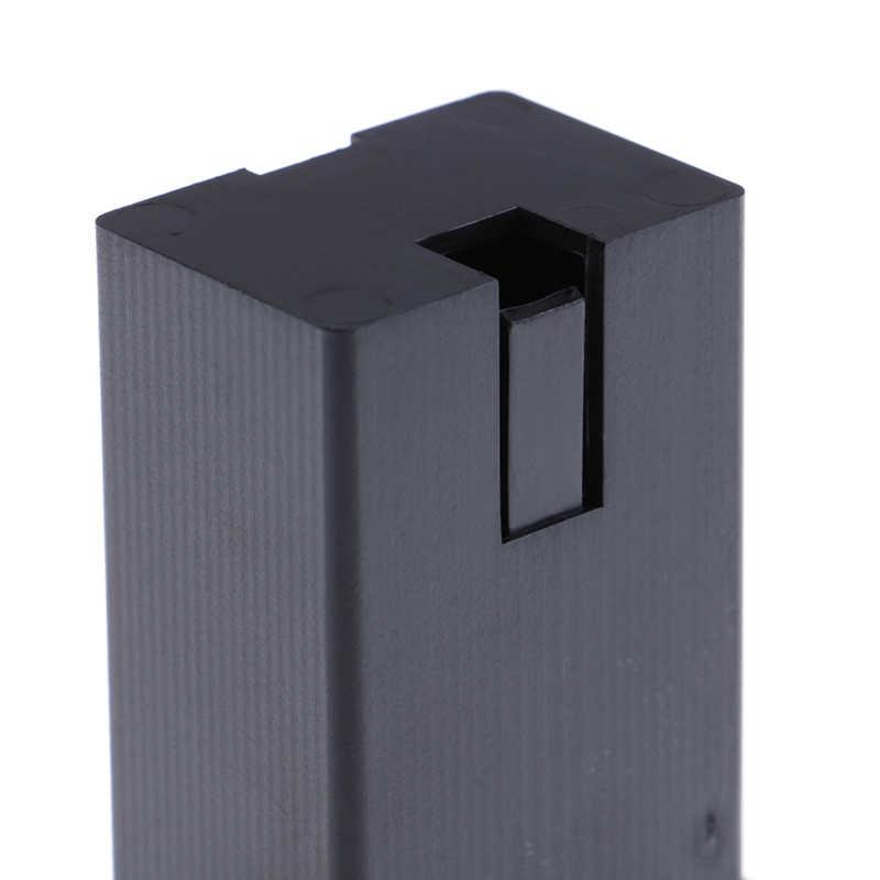 1pc バッテリー黒ホルダーケースボックスコンパートメントカバーギターベースピックアップ
