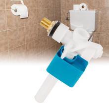Pro боковой входной впускной клапан Великобритания 1/2 дюймов клапан для резервуара-латунный хвостовик синий и белый ванная Туалет аксессуары Лидер продаж