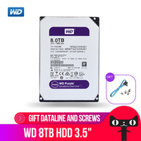 WD Purple 8TB  Surveillance Hard Disk Drive SATA 256MB 3.5″ Interal HDD for cctv Camera AHD DVR IP Camera NVR WD81EJRX Internal Hard Drives