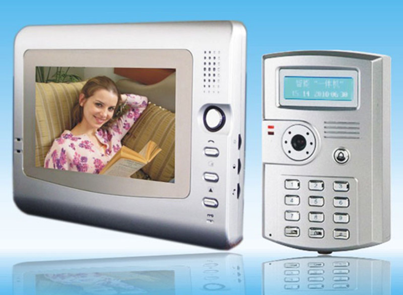 7 Inch Color Screen ID Card/Password Intercom Video Door Phone