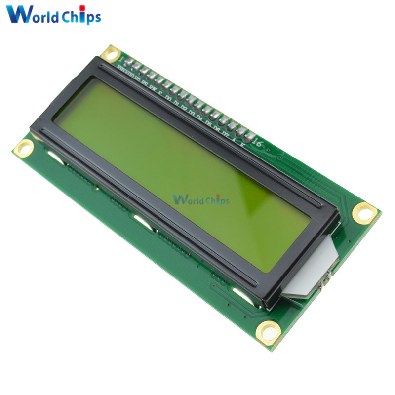Free Shipping LCD1602 1602 LCD HD44780 Screen Character LCD Display Yellow Blacklight TFT 16X2 LCD Module DC 5V