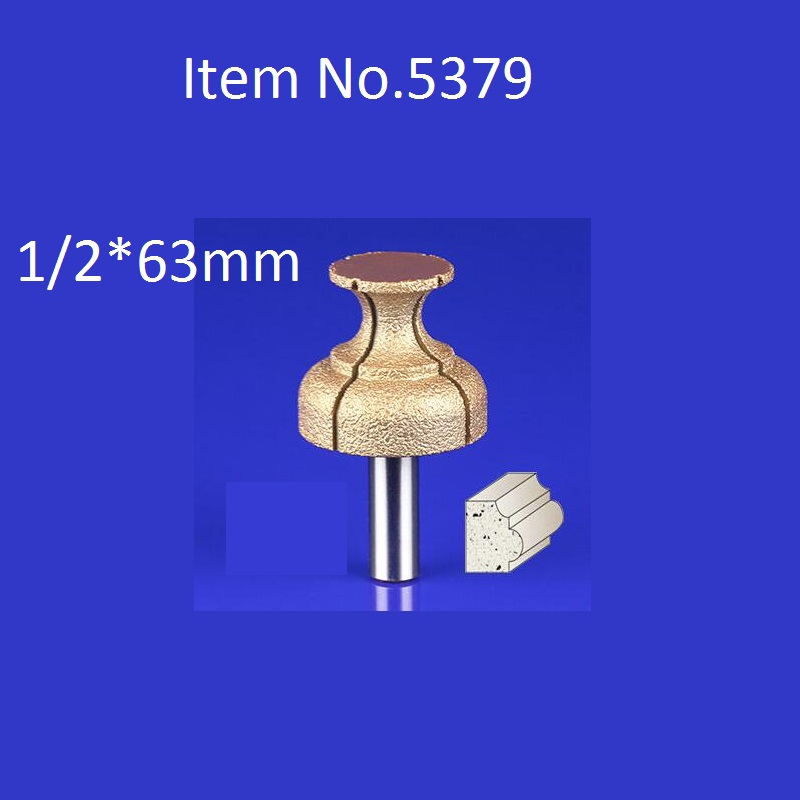 1PC 1/2*63mm CNC Engraving Bits Diamond Sand Diamond End Milling Cutter On Cutting Trimming Knife Bevel Heads  Free Shipping free shipping 10pcs 6x25mm one flute spiral cutter cnc router bits engraving tool bits cutting tools wood router bits