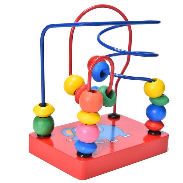 Hölzerne Pädagogische Montessori Elefanten Draht Labyrinth Um Perlen ...