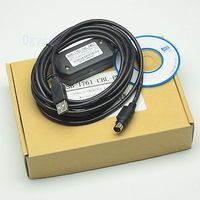 DHL/EMS 10 Sets USB 1761 CBL PM02 Cable USB to RS232 adapter for Allen Bradley AB MicroLonix PLC h2