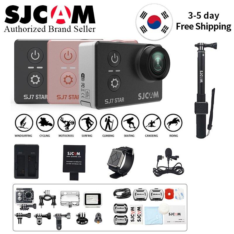 100% D'origine SJCAM SJ7 STAR Wifi 4 k 2 ''écran tactile Ambarella A12S75 30 M Sous-Marine Étanche Action Sports mini caméra