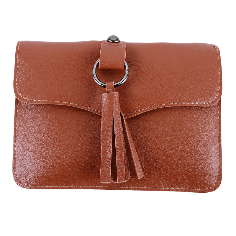 Tassel Belt Envelope Pocket Phone Bag New Fringed Leather Ladies Wallet Shoulder Messenger Bag Fashion Solid Buckle Pocket