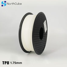 3D Printing Filament TPU Flexible Filament TPU Flex Plastic for 3D Printer 1.75mm 0.8KG 3D Printing Materials White