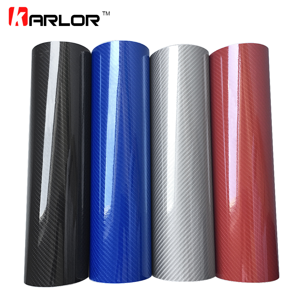 Car Styling 50 200cm DIY High Glossy 5D Carbon Fiber Vinyl Wrap Film Motorcyle Automobiles Car