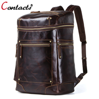 CONTACT'S из натуральной кожи Packback сумка на плечо мужской Для мужчин для мужской Известный бренд человек мешки 2018 выше сумки на плечо