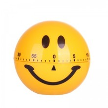 Bs040 Kitchen timer Smiling face timer 60 Minute Cooking Mechanical Home Decoration 7.5*7.5*7.5cm e74 cute 60 minute ladybug timer easy operate kitchen useful cooking timer ladybird shape