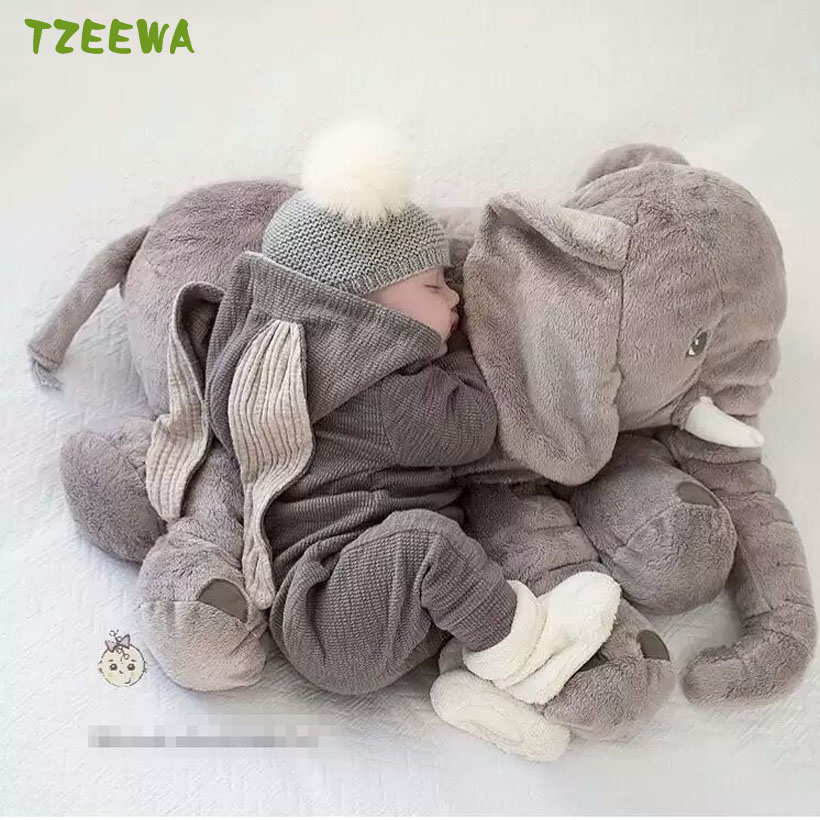 Elephant Pillow Soft Baby Sleeping Pillow Stuffed Animals Comfortable Plush Animal Toys For Children Elefante Pelucia hot kawaii baby sleeping mat stuffed plush animals cushion mattress elephant lamb fox kids children crawling pad playmat