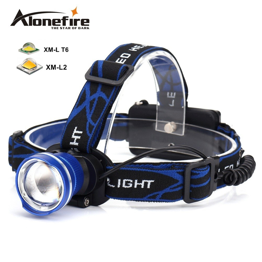 AloneFire HP87 Headlight Cree XM-L T6 L2 U3 LED 5000lm Zoom Head lamp Waterproof Head light Headlamp Rechargeable 18650 battery super 15000lm usb 9 cree led led headlamp headlight head flashlight torch cree xm l t6 head lamp rechargeable for 18650 battery