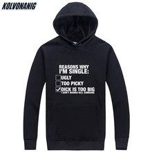 Mens Winter Pullover Reasons Why Im Single Joke Printed Sweatshirts Men Long Sleeve Hoody With Hat Hip Hop Oversized Hoodies