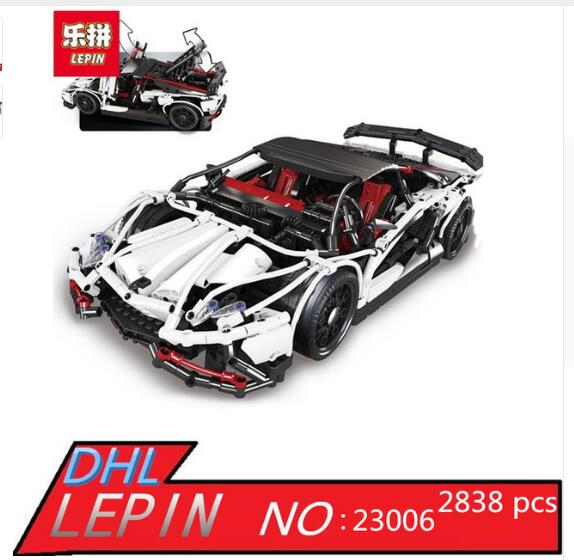 IN STOCK Lepin 23006 2838pcs New Technic Series The Hatchback Type R Set Building Blocks Bricks Educational Toys Boy Gifts Model in stock xingbao 09005 1627pcs blocks series the castle of holy war set educational building blocks bricks boy toys model gifts