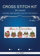 Eulen ausgaben weihnachten chinesischen Stich, DIY 14CT ähnliche DMC Kreuzstich, Sets Für Stickerei Kits Gezählt Kreuz-Stitching