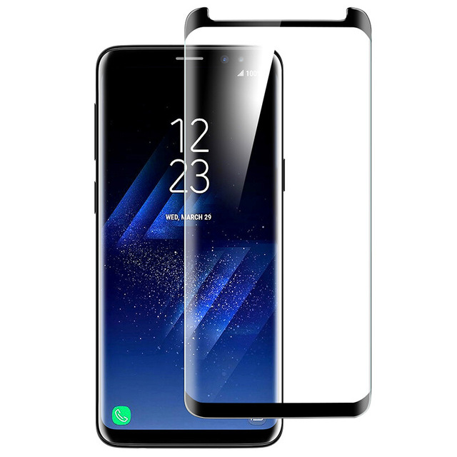 DHL 100pcs 3D Curved Edge Tempered Glass For Samsung Galaxy S9 S8 Plus Screen Protector For