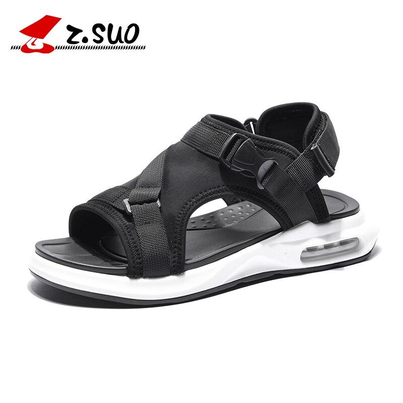 Z SUO Men Fashion Sandals Comfortable Breathable Outdoor Casual Summer Beach Sandals Buckle Strap Non slip