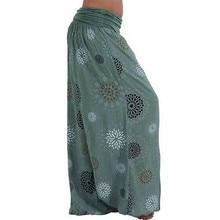 New Women Casual Harem Pants Single Code Loose Printing Multi-color Ladies Wide Leg Boho Elastic