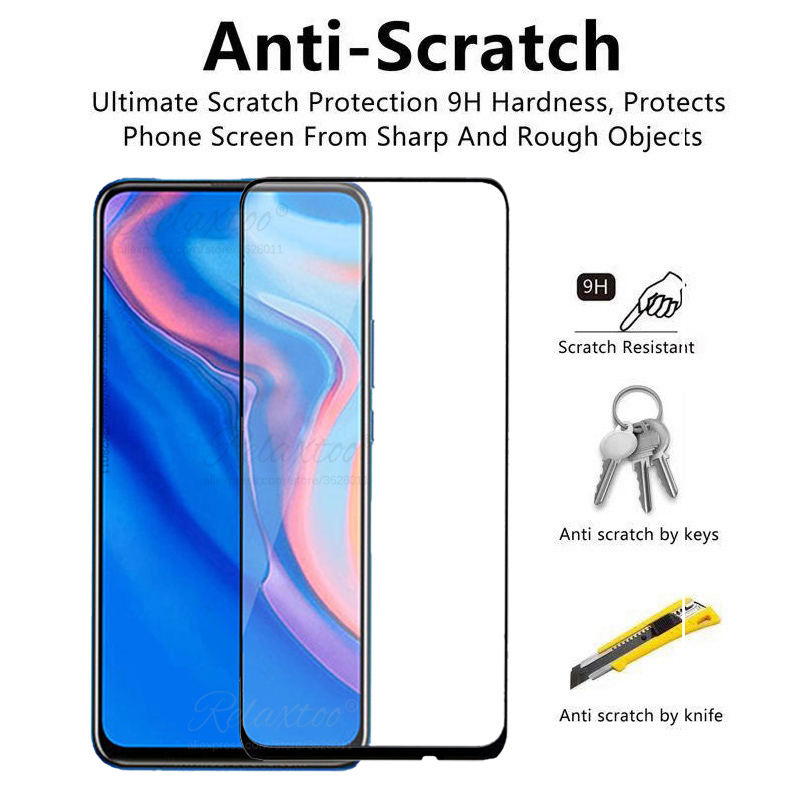 Image 2 - 9D Full Cover Tempered Glass for Huawei P Smart Z screen protector For hauwei Y9 Prime P Smart 2019 psmartz Glas Protective film-in Phone Screen Protectors from Cellphones & Telecommunications