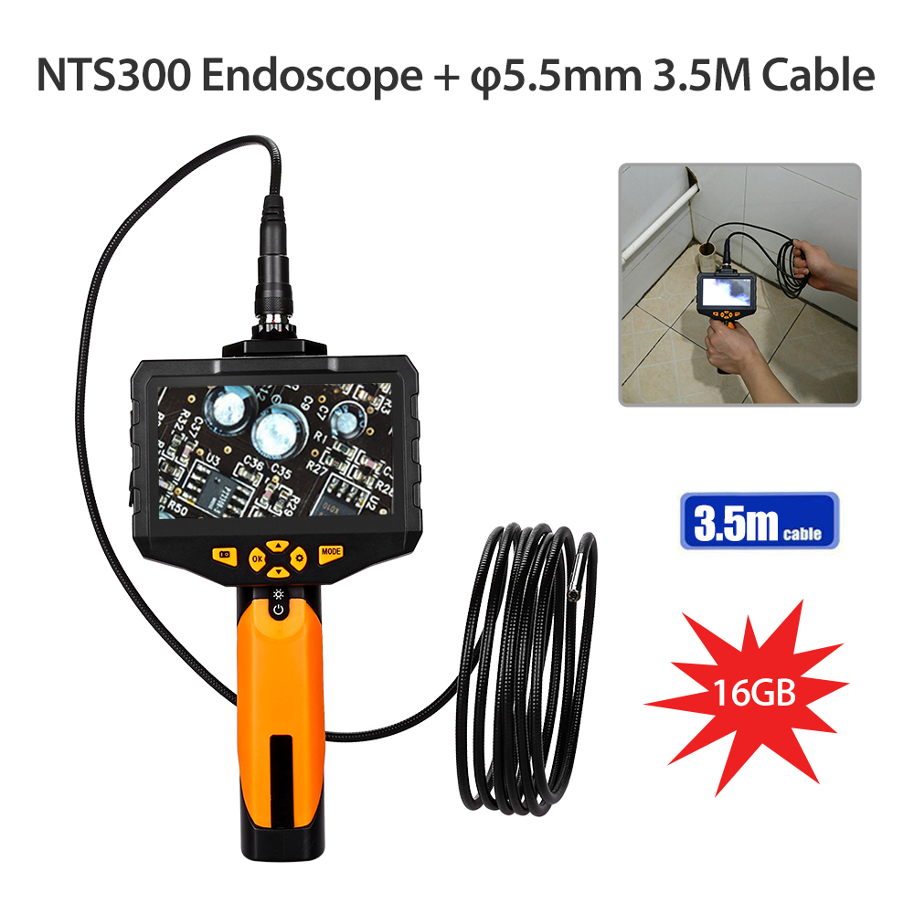 Eyoyo NTS300 4.3 Color LCD Display Monitor 5.5mm Snake Inspection Endoscope 6 LEDS Borescope 3.5mm Tube Camera inspectiecameraEyoyo NTS300 4.3 Color LCD Display Monitor 5.5mm Snake Inspection Endoscope 6 LEDS Borescope 3.5mm Tube Camera inspectiecamera