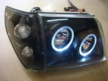 eOsuns headlight assembly + TaiWang 8 led for toyota  land cruiser prado LC90 2700 3400