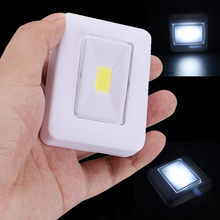 LED Night Light COB LED Cordless Switch wall Light Battery Operated Under Cabine Magnetic Base IPX4 Waterproof 2019(China)