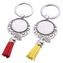 Металлические Античные кольца для ключей, 5 шт., 9 цветов, цепочка для ключей, звездочка, 25 мм, кулон с логотипом кабошона, ювелирные изделия Diy,...