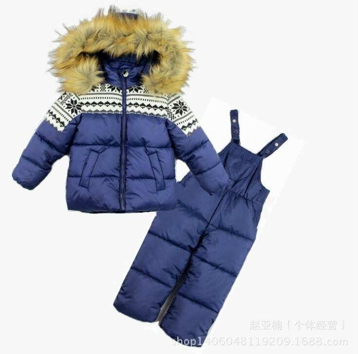 2018 Children Winter Clothes for baby Girl boy kids infant jacket+pants rumper toddler kids clothing ski ski snow suit sets kids baby boy clothes sets baby clothing fashion high qulity hooded set for boy outfit toddler infant children suit 0 2 3 years