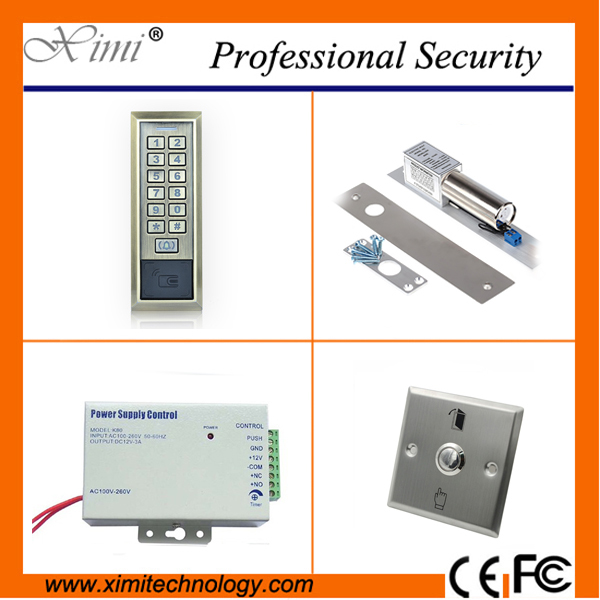RFID card access control system without software weigand reader 2000 user standalone 125KHZ card reader access control kit