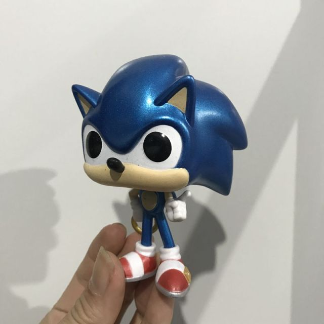 Original Funko pop Secondhand Sonic The Hedgehog Shadow Vinyl Action Figure Collectible Model Loose Toy No Box
