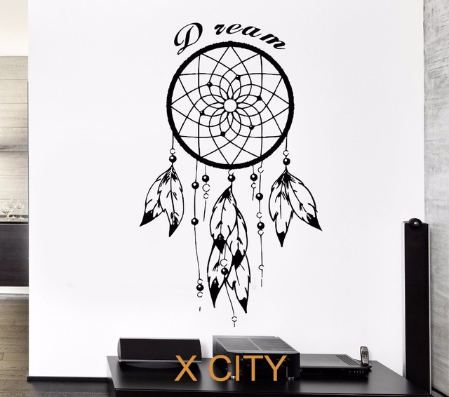 buy black wall decal dreamcatcher native. Black Bedroom Furniture Sets. Home Design Ideas