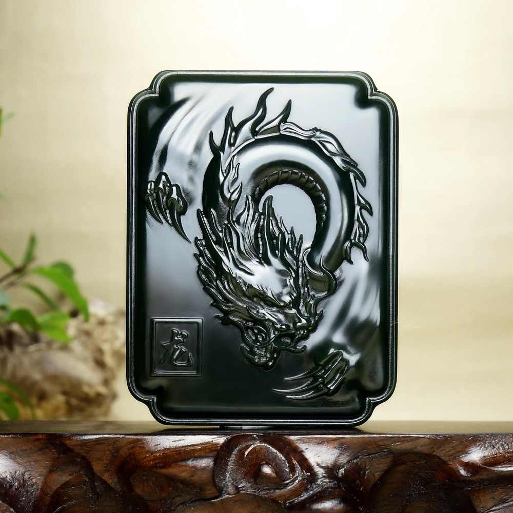 Tian Yuqing Yulong World ภายใต้ Hetian Yuta Qinglong จี้ Taqing One Fine Dragon จี้ hp300 #