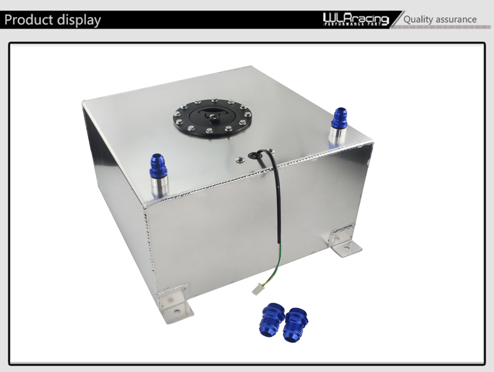 WLR RACING - 40L Aluminium Fuel Surge tank with Cap Fuel cell 40L with  sensor foam inside WLR-TK40