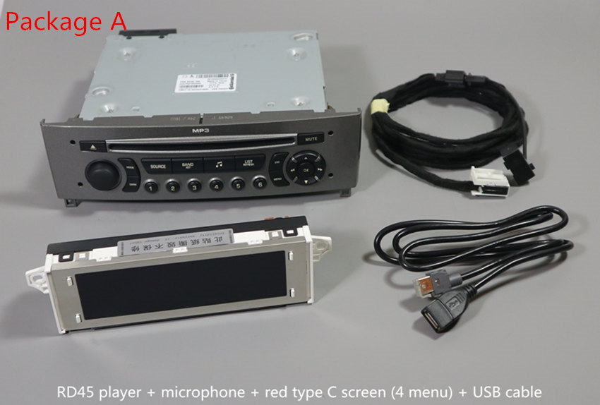 For Peugeot 408 308SW 308 RD45CD Player Supports Bluetooth Music USB AUX Bluetooth Phone Song Name Display
