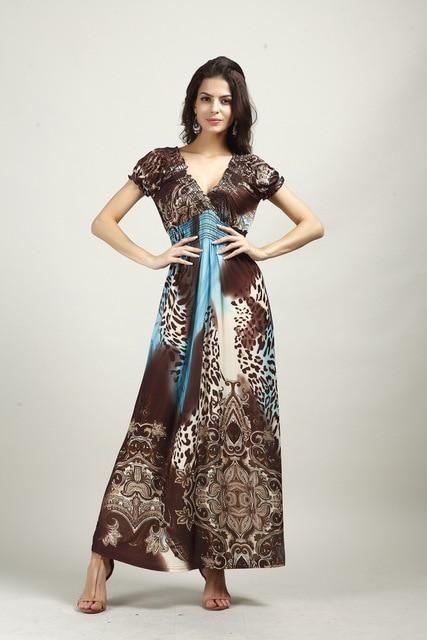2015 summer sexy women long boho dress beach maxi dresses plus size flower print dress for women vestidos longo estampado