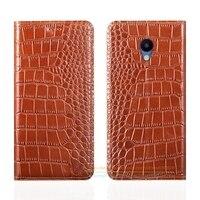 Crocodile Grain Genuine Leather Case For Meizu M5 Mini M5 5 2 Inch Luxury Phone Cover