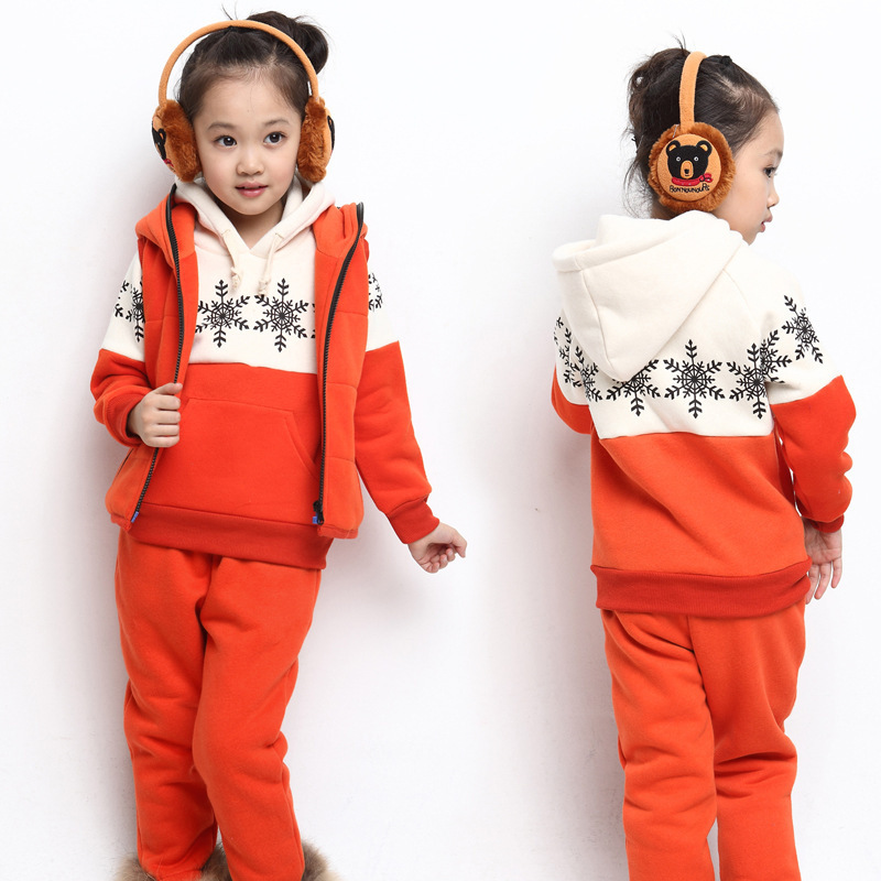 ФОТО Free shipping winter snow leisure three-piece suit of the girls