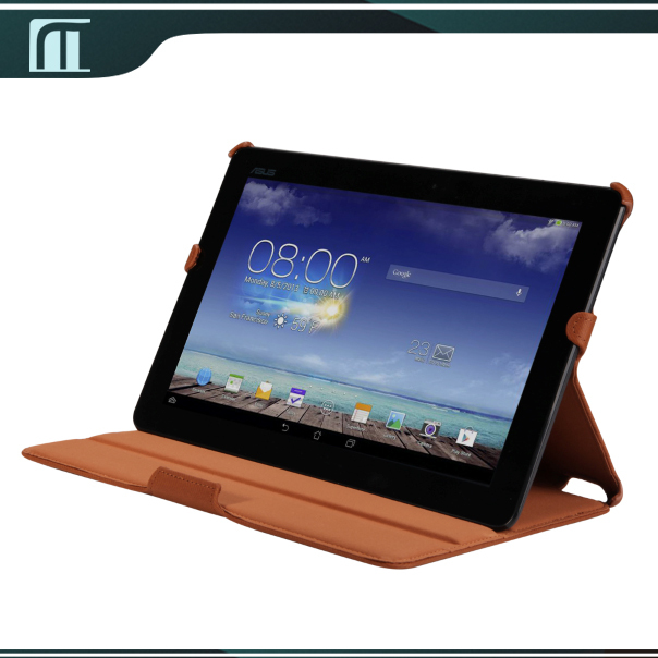 1 pcs 2 Different Adjustable Stand Degree Luxury Fabric Case Cover For ASUS MeMO Pad 10 ME102A ME102 Tablet Pouch