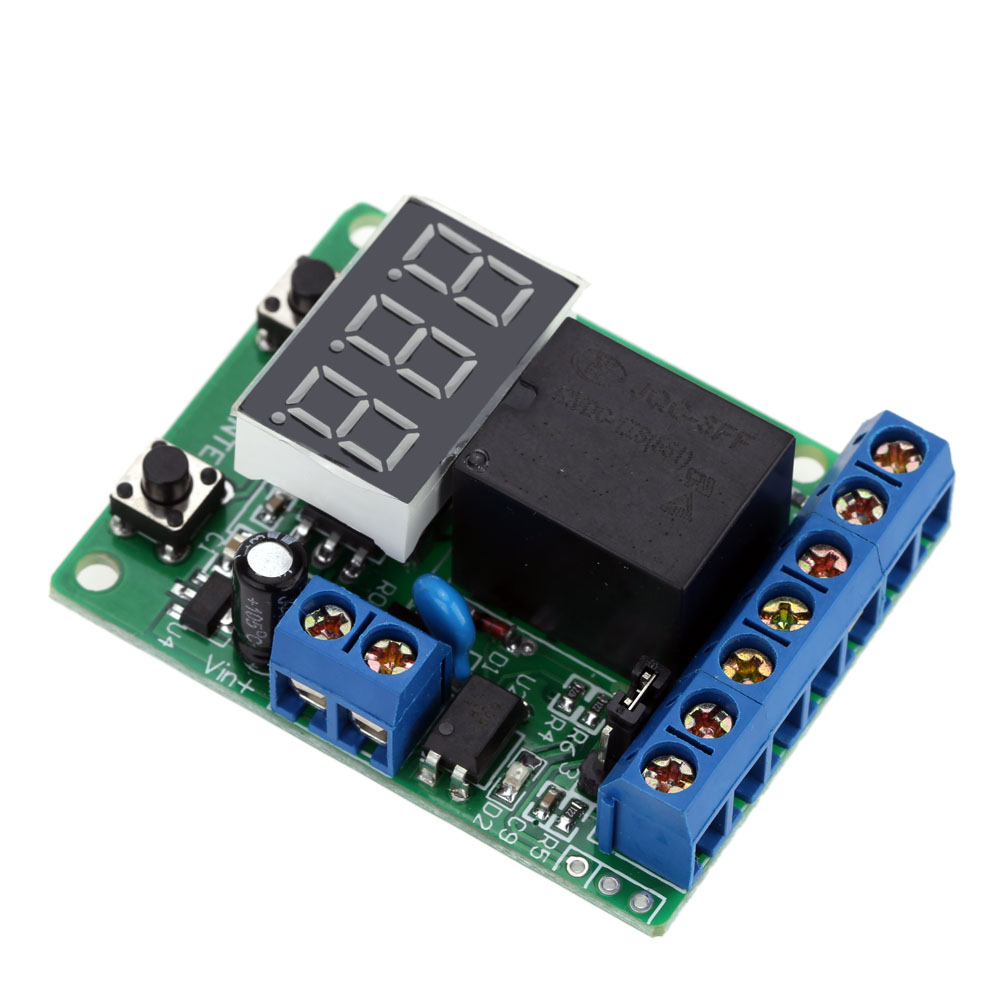 Excellent Relay Module DC 12V Relay Switch Control Board Module Relay Module Voltage Detection Charging Discharge Monitor Test
