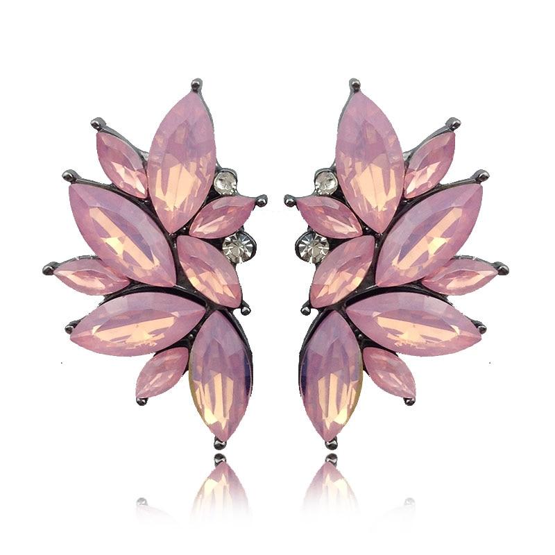 LUBOV 2018 Trendy Angel Wing Design Opal Stone Stud Naušnice Žene - Modni nakit - Foto 6