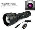UniqueFire 1505 IR 940NM Tactical Flashlight Zoomable 3 Modes 38mm Convex Lens Night Vision Lamp Torch With Remote Pressure