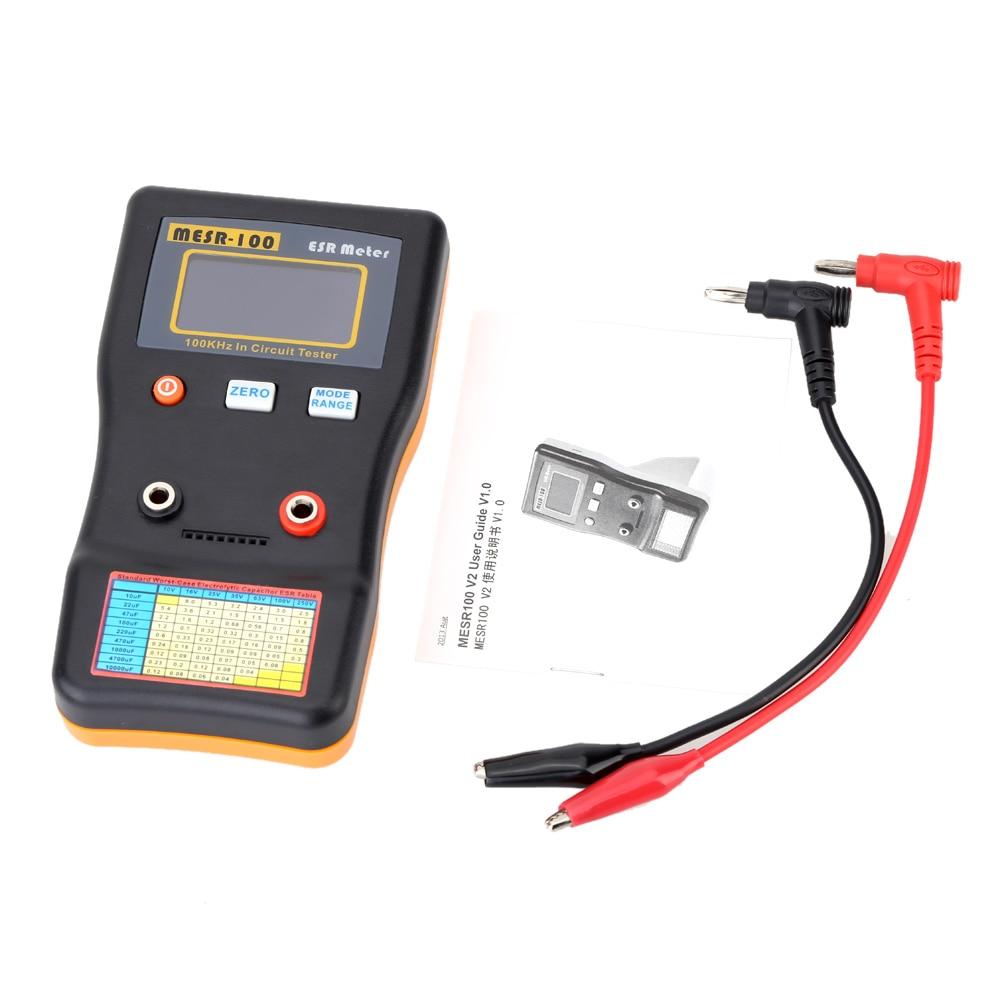 MESR-100 ESR Capacitance Meter Ohm Meter Professional Measuring Capacitance Resistance Capacitor Circuit Tester cnim hot m6013 autorange digital capacitor capacitance circuit tester meter multimeter yellow