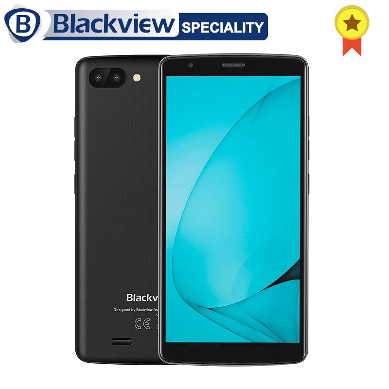 Blackview A20 Android GO смартфон 3G 5,5 18:9 Экран mtk6580m четыре ядра 1 ГБ Оперативная память 8 ГБ Встроенная память двойной задней камерами 3000 мАч gps телефон